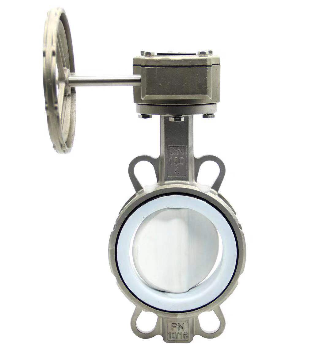 承德Stainless steel PTFE lined butterfly valve